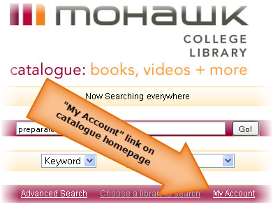 image of catalogue homepage