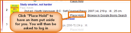 place a hold image