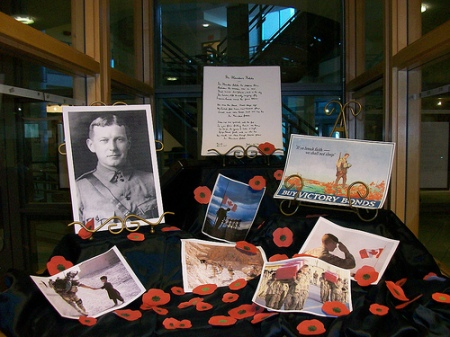 Remembrance day display -IAHS
