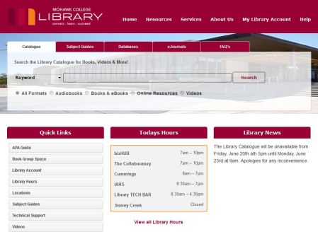 new library site